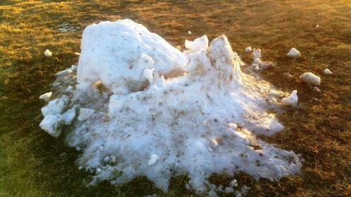 Christmas snow fort melted