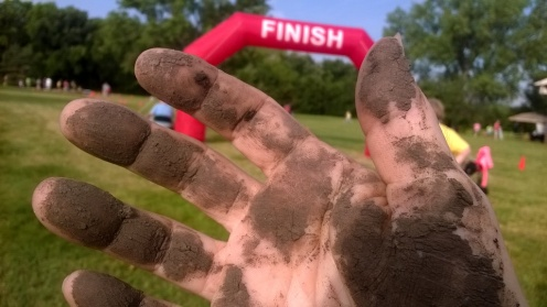 Muddy hand finish