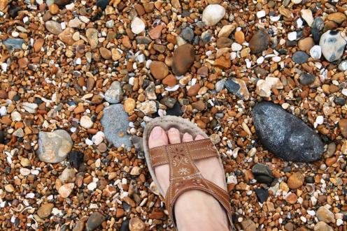 Brighton foot selfie-w