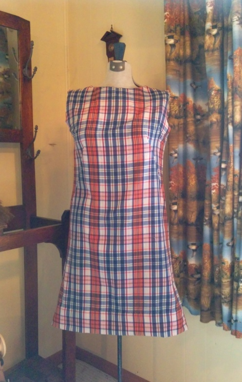 Madras dress shortened-w