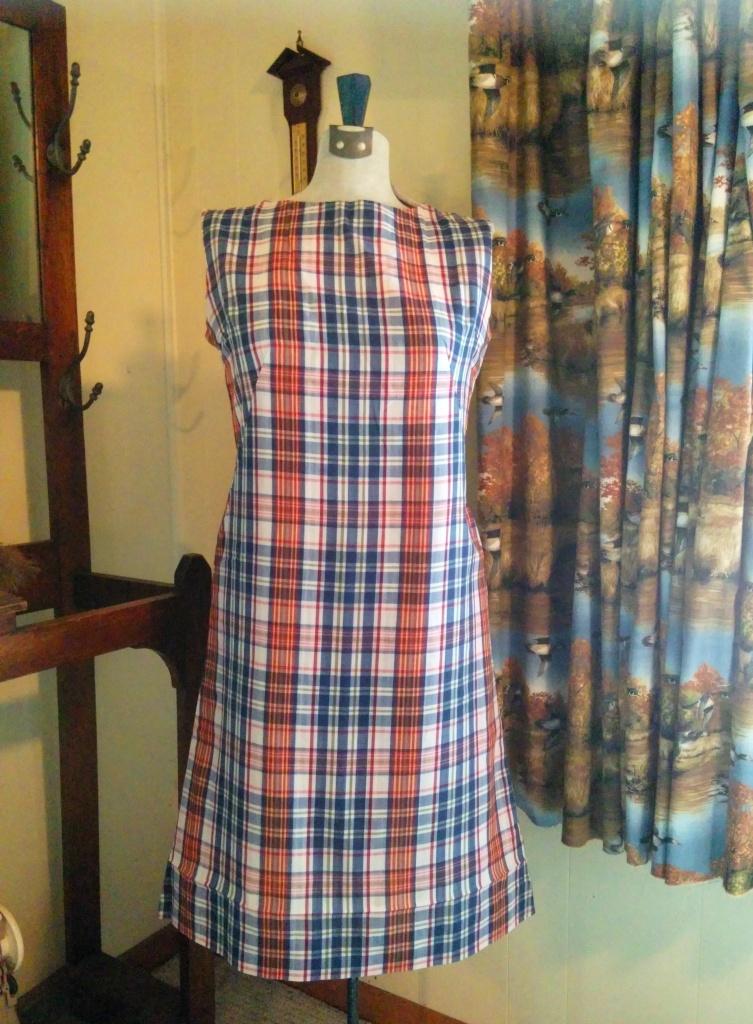 Madras vintage dress-w