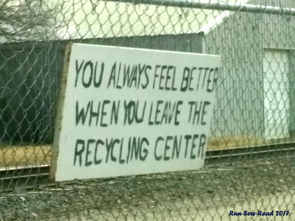 Recycling Center sign-RSR