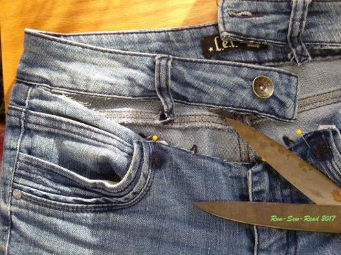 Jeans cut waist--RSR