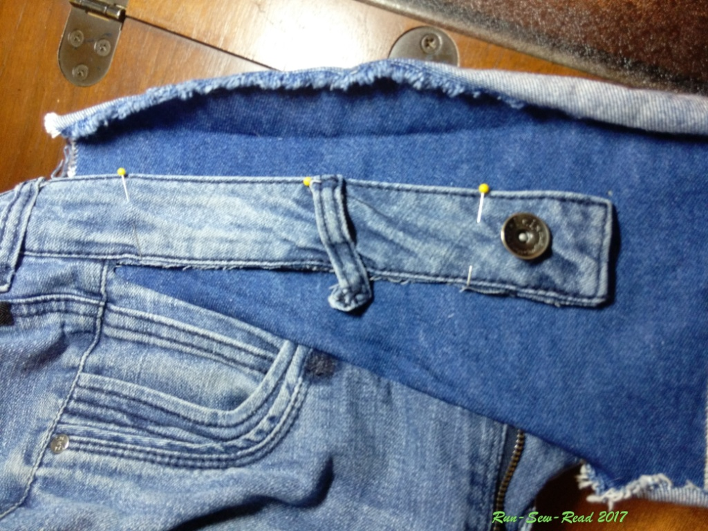 Jeans waistband placement--RSR