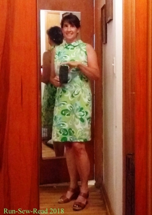 Green dress mirror selfie b