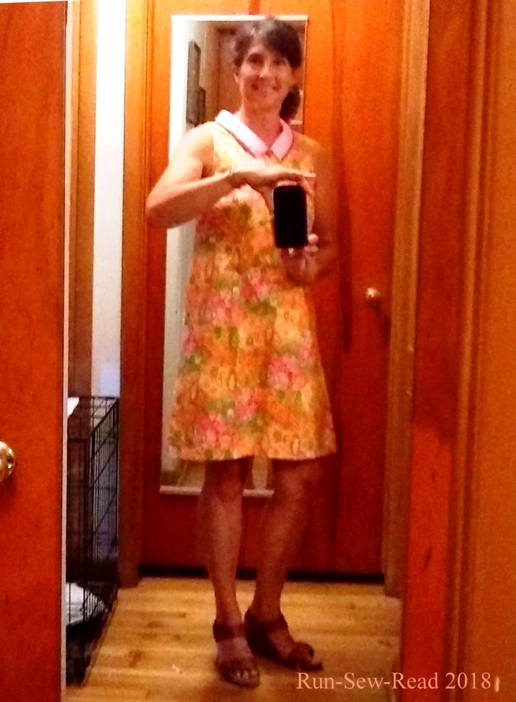Pink dress mirror selfie b
