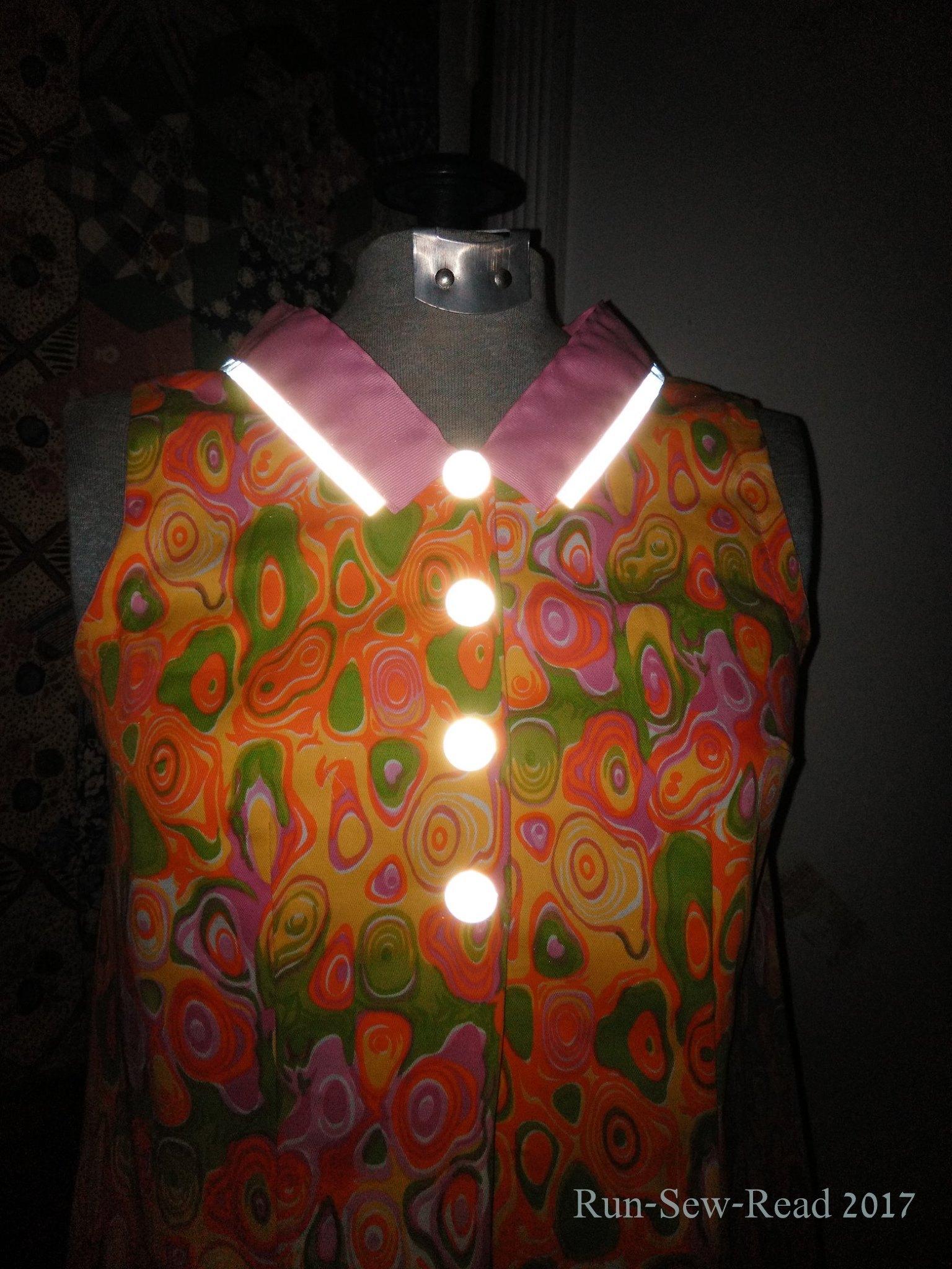 Pink dress reflector bodice