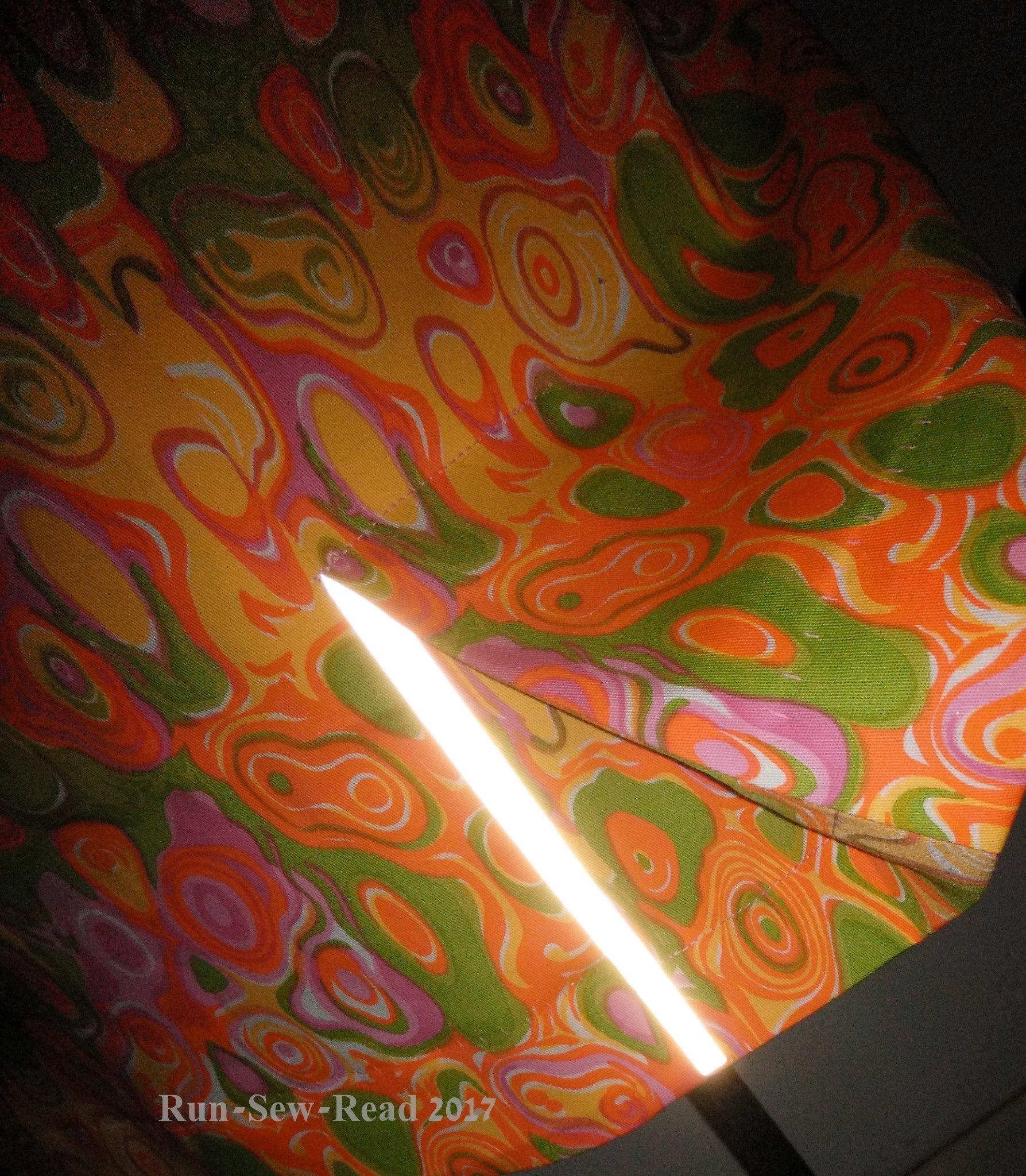 Pink dress reflector kick pleat