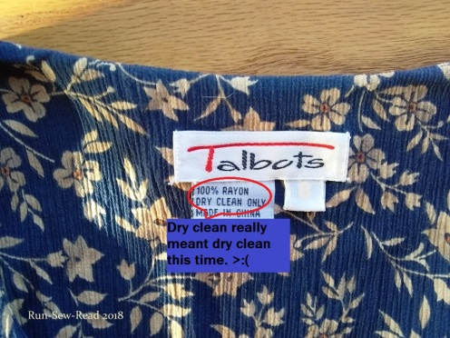 Care label w comment