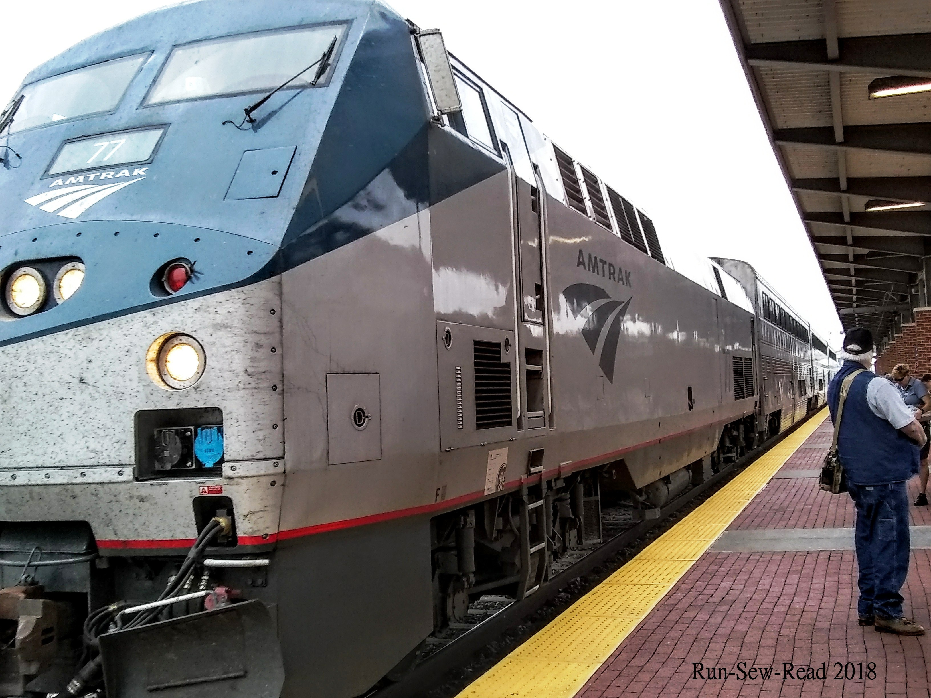 Amtrak train arriving Ft Worth
