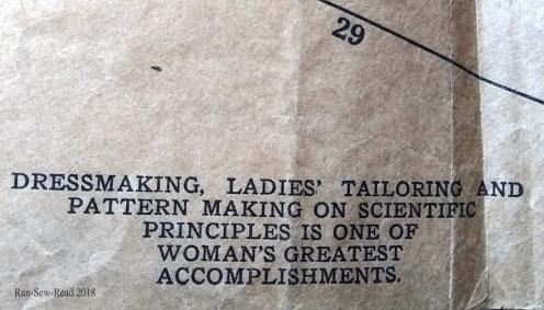 Dressmaking pattern quote RSR