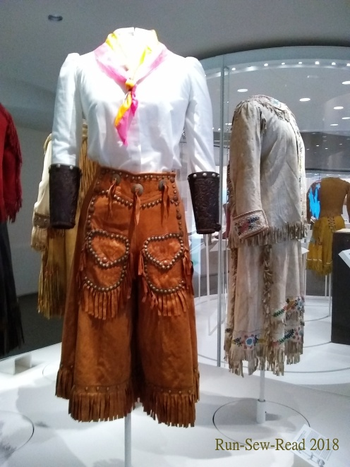 Leather culottes and gauntlets a