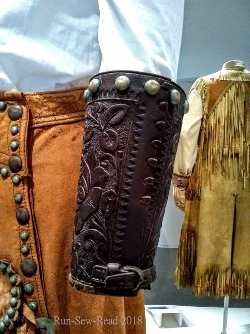 Leather sleeve cuffs
