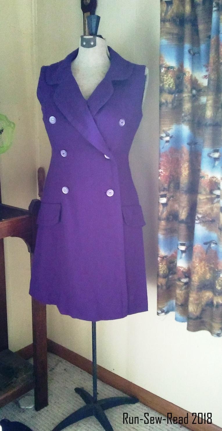 Purple wool blazer dress RSR