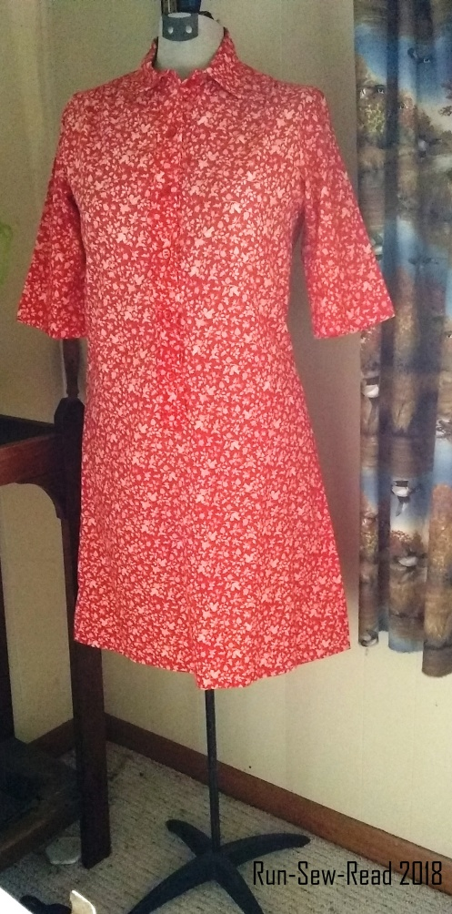 Red calico floral shirtdress RSR
