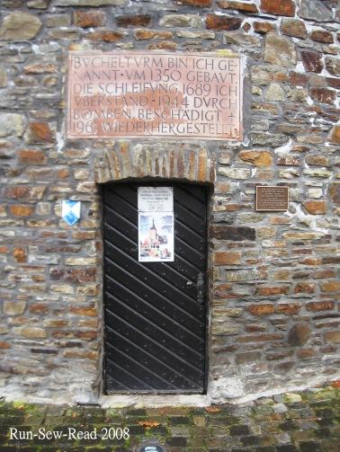 Buchel Tower St Vith door a