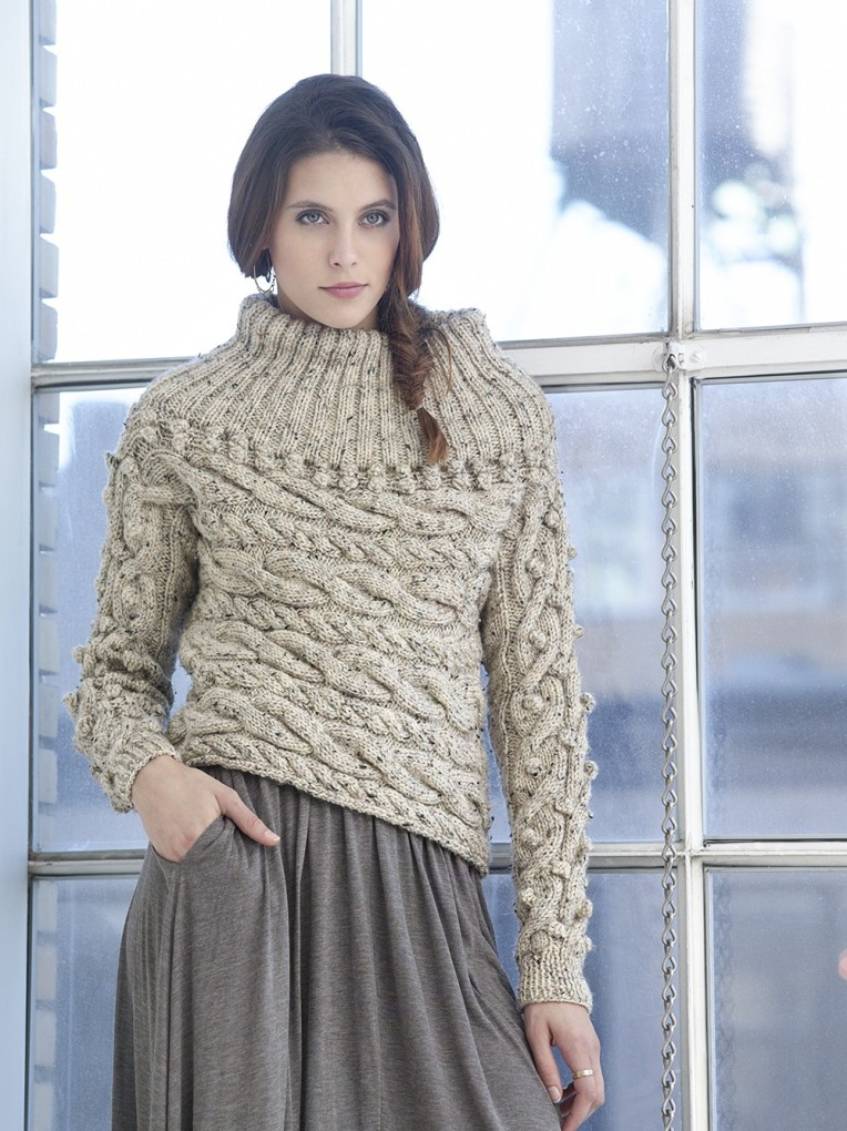 Knit-Pattern-Sideways-Cable-Pullover-L32178-a