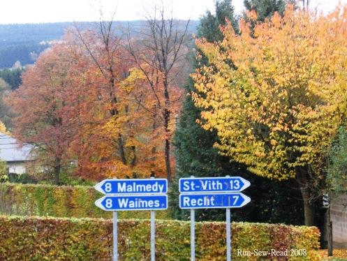 Malmedy-St Vith Route signs a