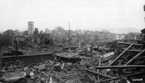 St Vith bomb damage