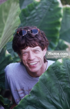 February 1989: British rock star Mick Jagger holidays on the island of Mustique in the Grenadines. (Photo by Slim Aarons/Getty Images)
