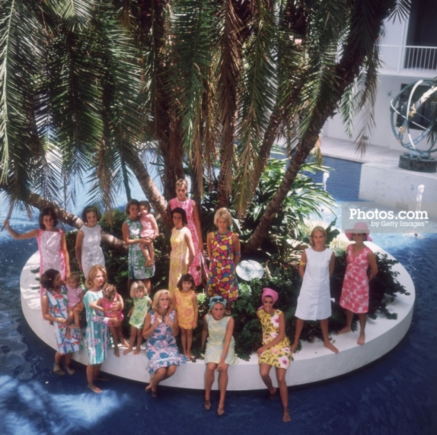 Slim Aarons Pulitzer dresses 1964
