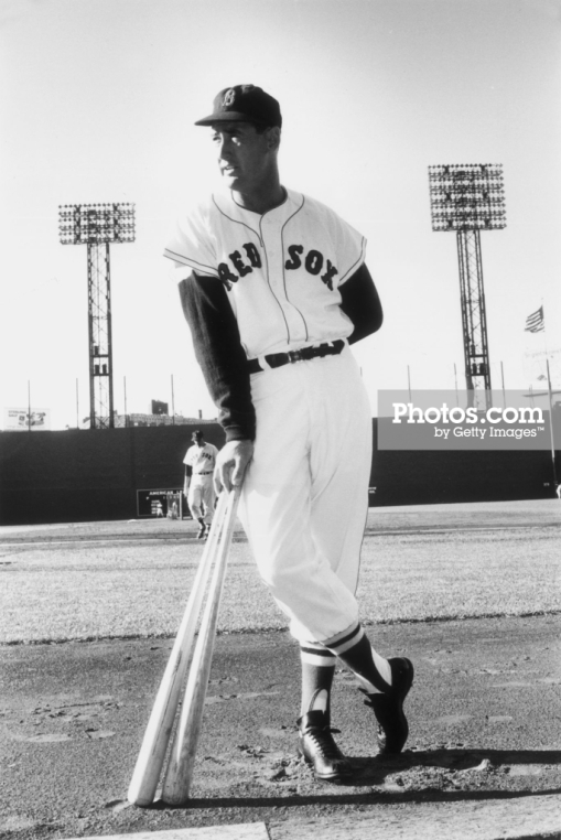circa 1955: American baseball player Ted Williams (1918 - 2002), outfielder and slugger for the Boston Red Sox. (Photo by Slim Aarons/Getty Images)