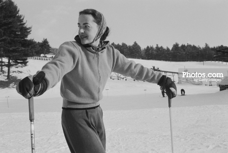 Slim Aarons skier