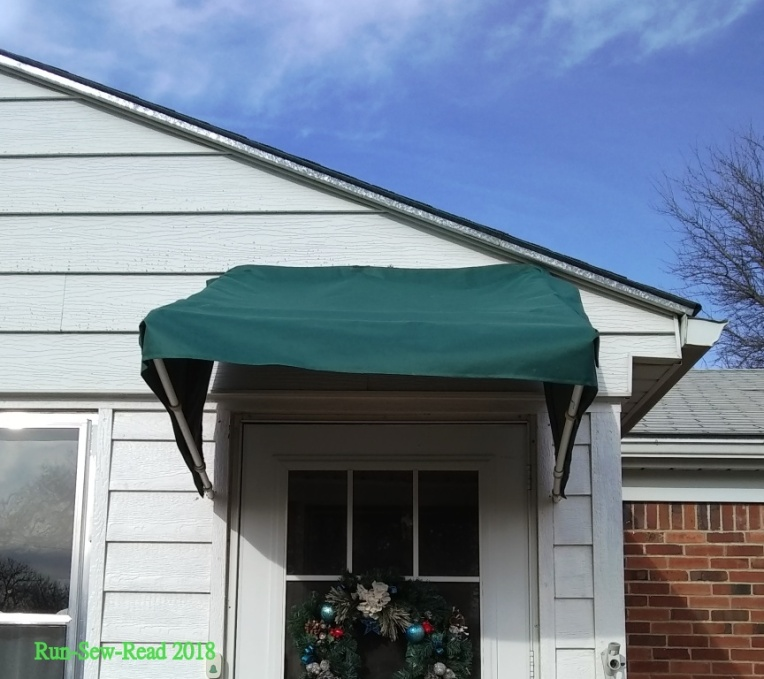 Awning front before straighten w