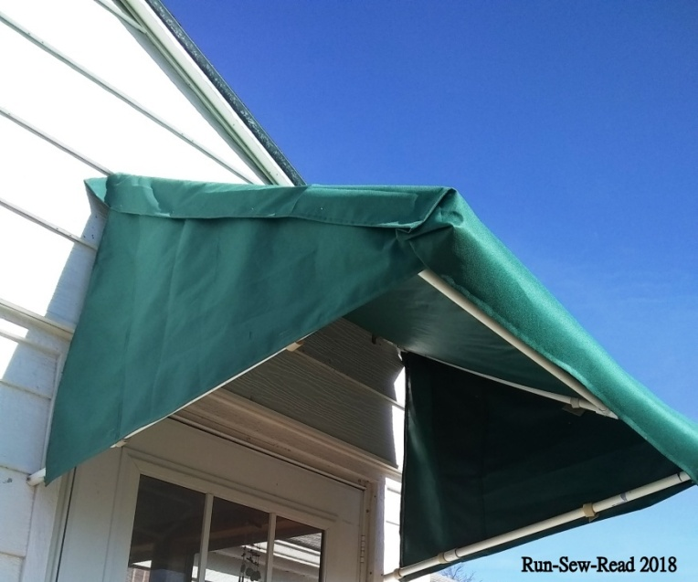 Awning tacked w