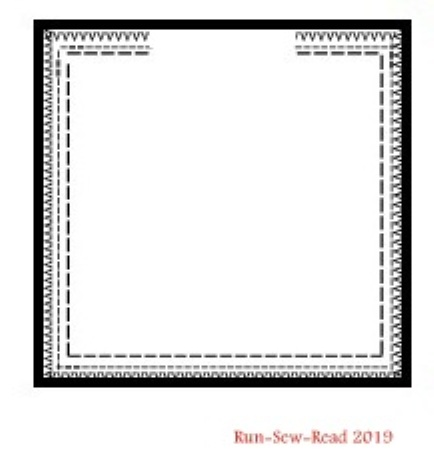 Squares pattern with stitching lines reinforced 3