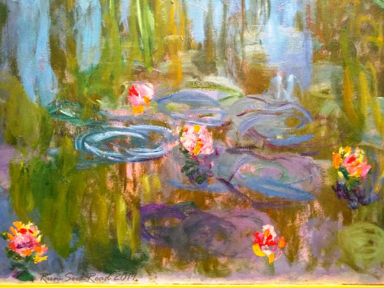 Monet water lillies --close RSR