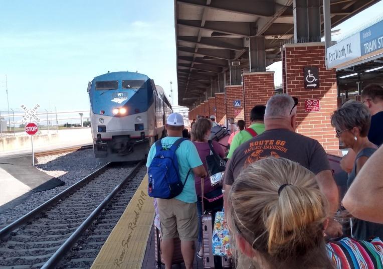 Train approaching RSR