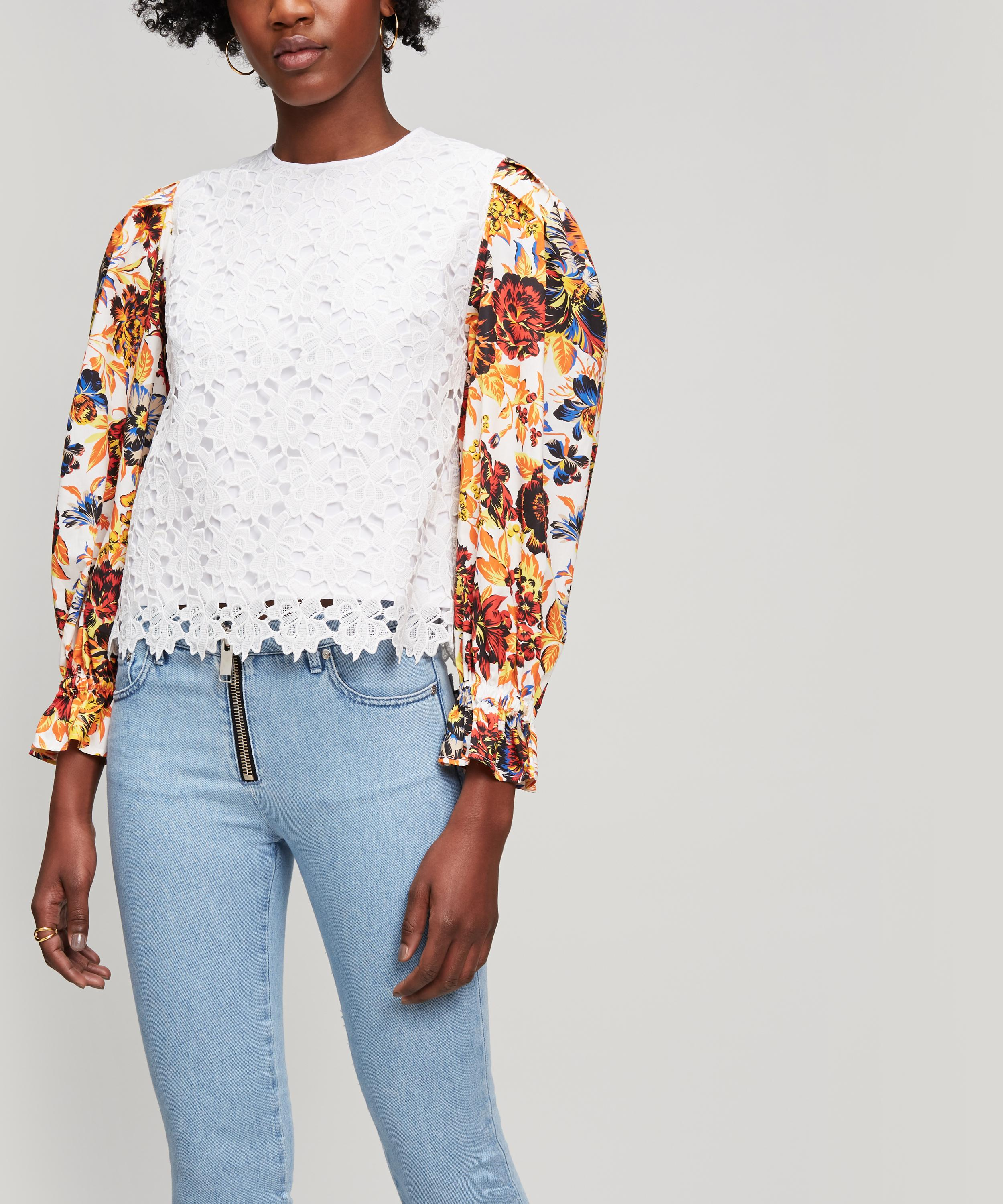Lace top print sleeves from Liberty
