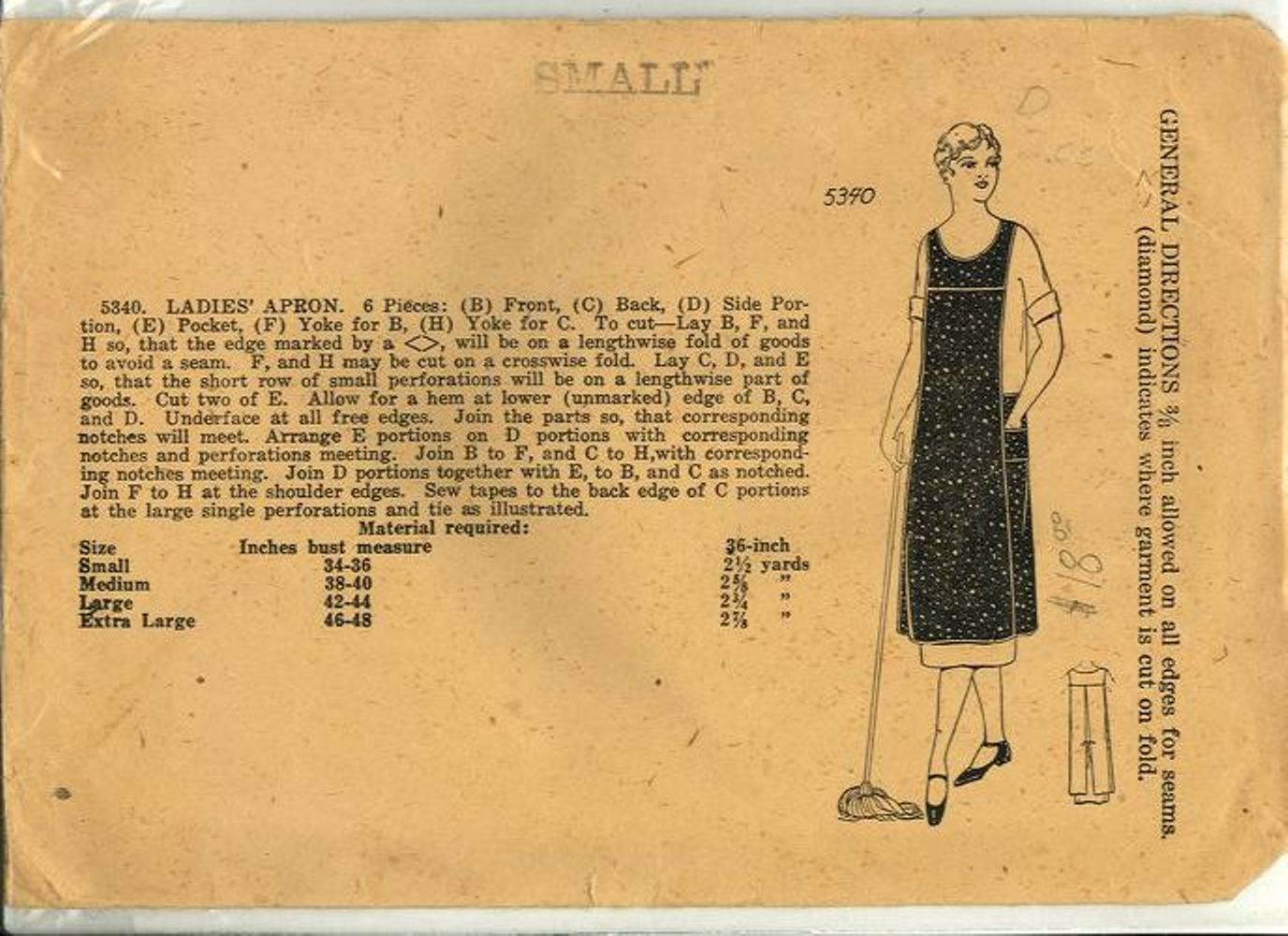 Nelly Don apron pattern